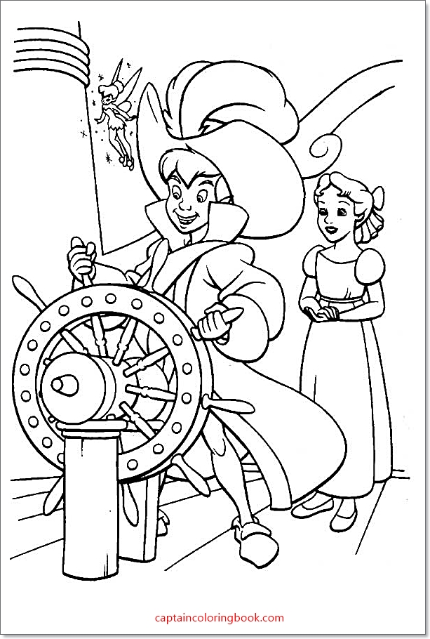 Peter Pan Coloring Pages Free Printable - Coloring Page