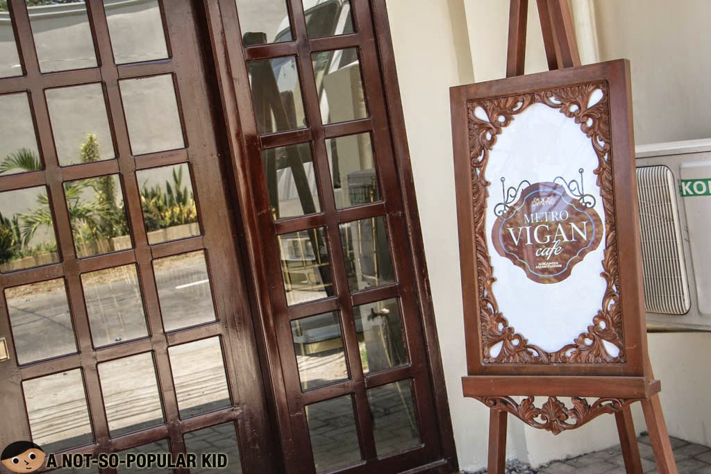 The in-house cafe/restaurant of Metro Vigan Inn