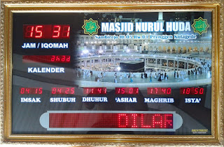 Jam Digital Masjid Running Text