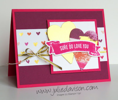 Stampin' Up! Sure Do Love You Valentien Card ~ 2018 Occasions Catalog ~ www.juliedavison.com