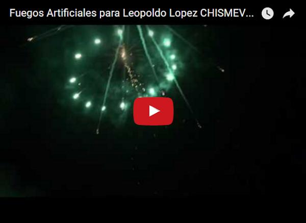 Pueblo lleva fuegos artificiales a Ramo Verde para Leopoldo