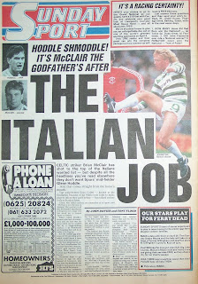 Back page of the Sunday Sport newspaper dated 15th March 1987