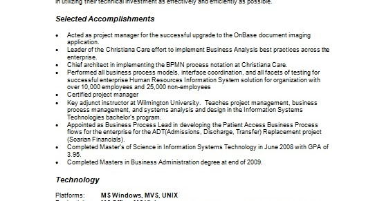 how to write a good resume for a project manager in word format free download
