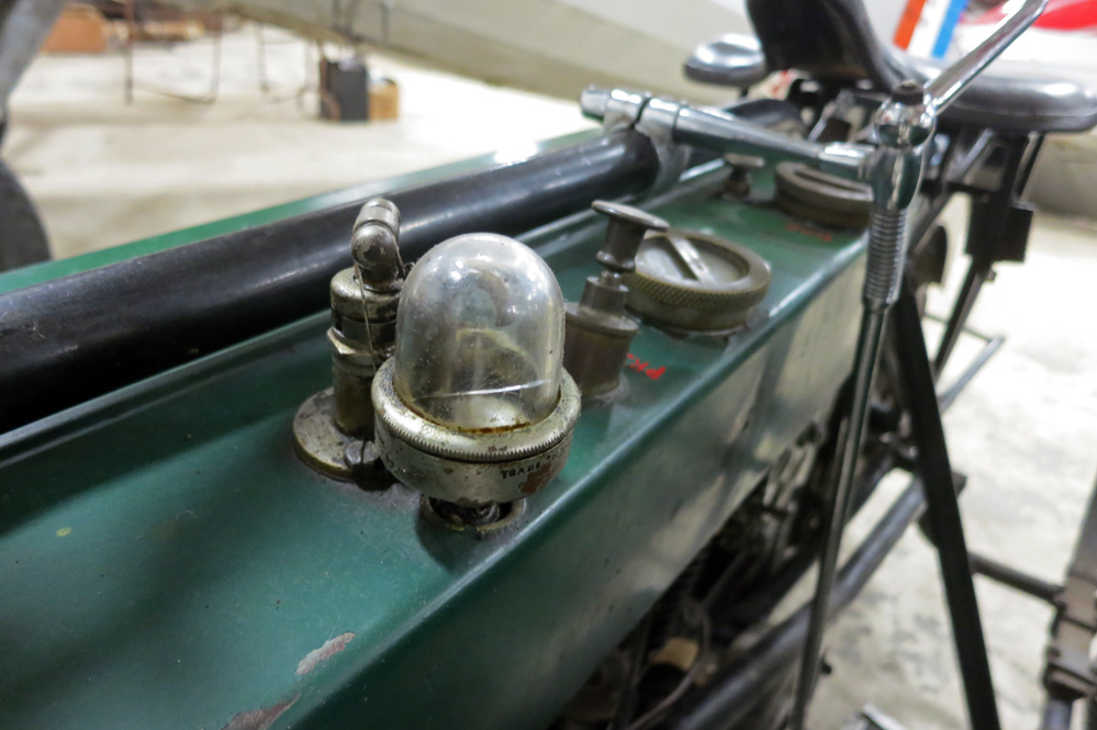 1916 Royal Enfield gas tank.