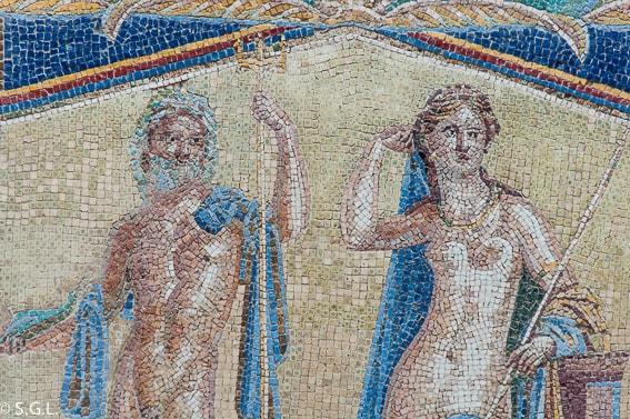 Mosaico de la casa de Neptuno y Anfitrite en Herculano