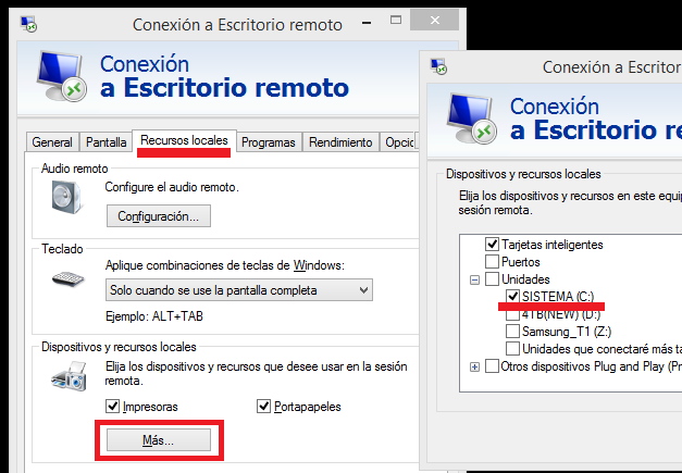 Windows: copiar-pegar escritorio remoto no funciona