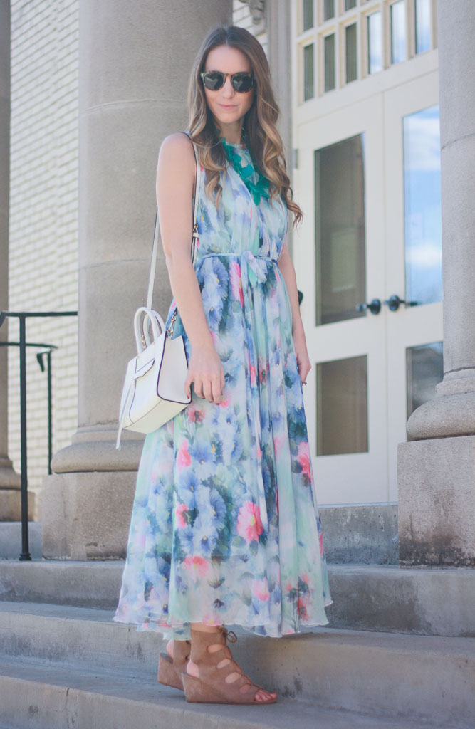 eb7c99a9c Floral Maxi Dress + #WIWT Link Up - Twenties Girl Style