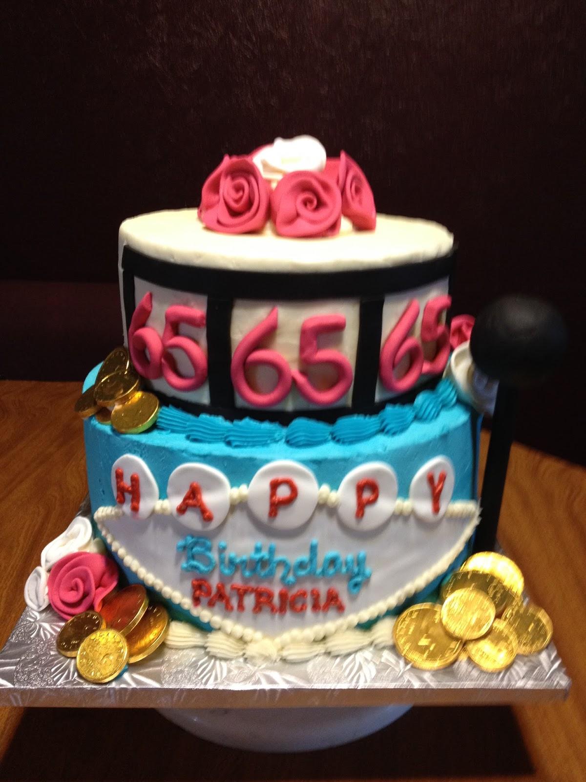 Blue Fairy Cakes Las Vegas 65th Slot Mahcine Birthday Cake