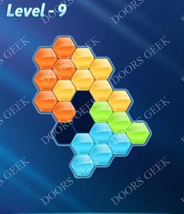Block! Hexa Puzzle [Intermediate] Level 9 Solution, Cheats, Walkthrough for android, iphone, ipad, ipod