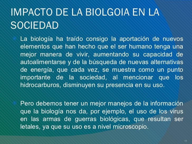 Aportes de la Biología en la Sociedad
