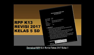 RPP K13 Revisi Tahun 2017 Kelas 5