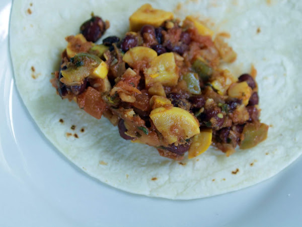 Meatless Monday AND taco Tuesday? (Summer Squash Tacos)