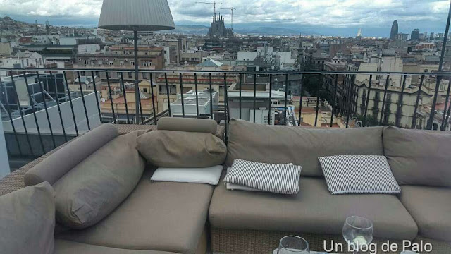 Terraza Majestic Barcelona vistas