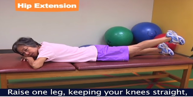 Stretching Hip Extension exercise