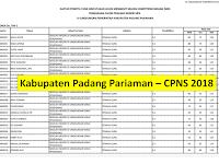 Daftar Peserta Yang Dinyatakan Lolos Untuk Mengikuti Tahap Seleksi Kompetensi Bidang (SKB) - Kabupaten Padang Pariaman