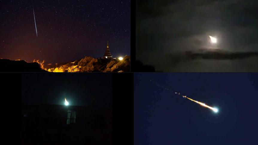 Cade meteorite in Venezuela, immagini impattanti.