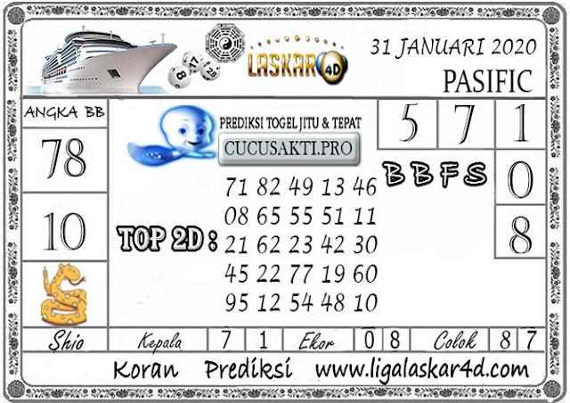 Prediksi Togel PASIFIC LASKAR4D 31 JANUARI 2020