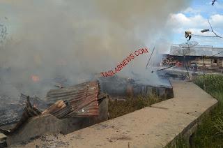 Kebakaran di Datuk Bandar Timur Tanjungbalai, 8 Rumah Ludes 4 Dirusak