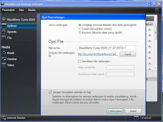 cara backup data blackberry dengan blackberry desktop