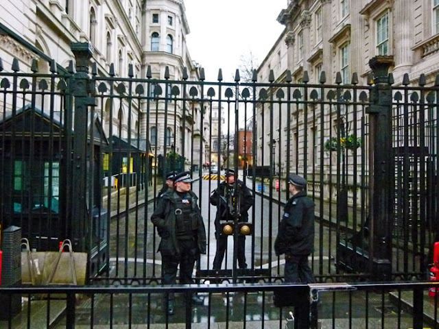 Downing Street, guards, gates
