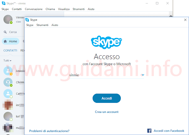 Skype due istanze separate