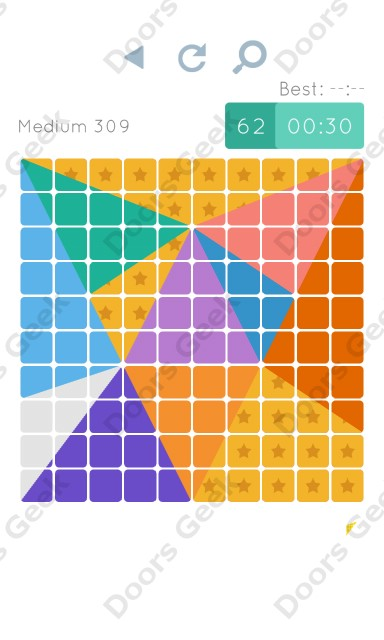Cheats, Walkthrough for Blocks and Shapes Medium Level 309