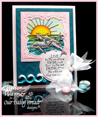 Our Daily Bread Designs Stamp sets: Under the Sea, Hello Sunshine, Our Daily Bread Designs Custom Dies: Flourished Star Pattern, Layered Lacey Squares