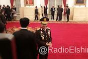 Presiden Joko Widodo Lantik Komjen Tito Jadi Kapolri
