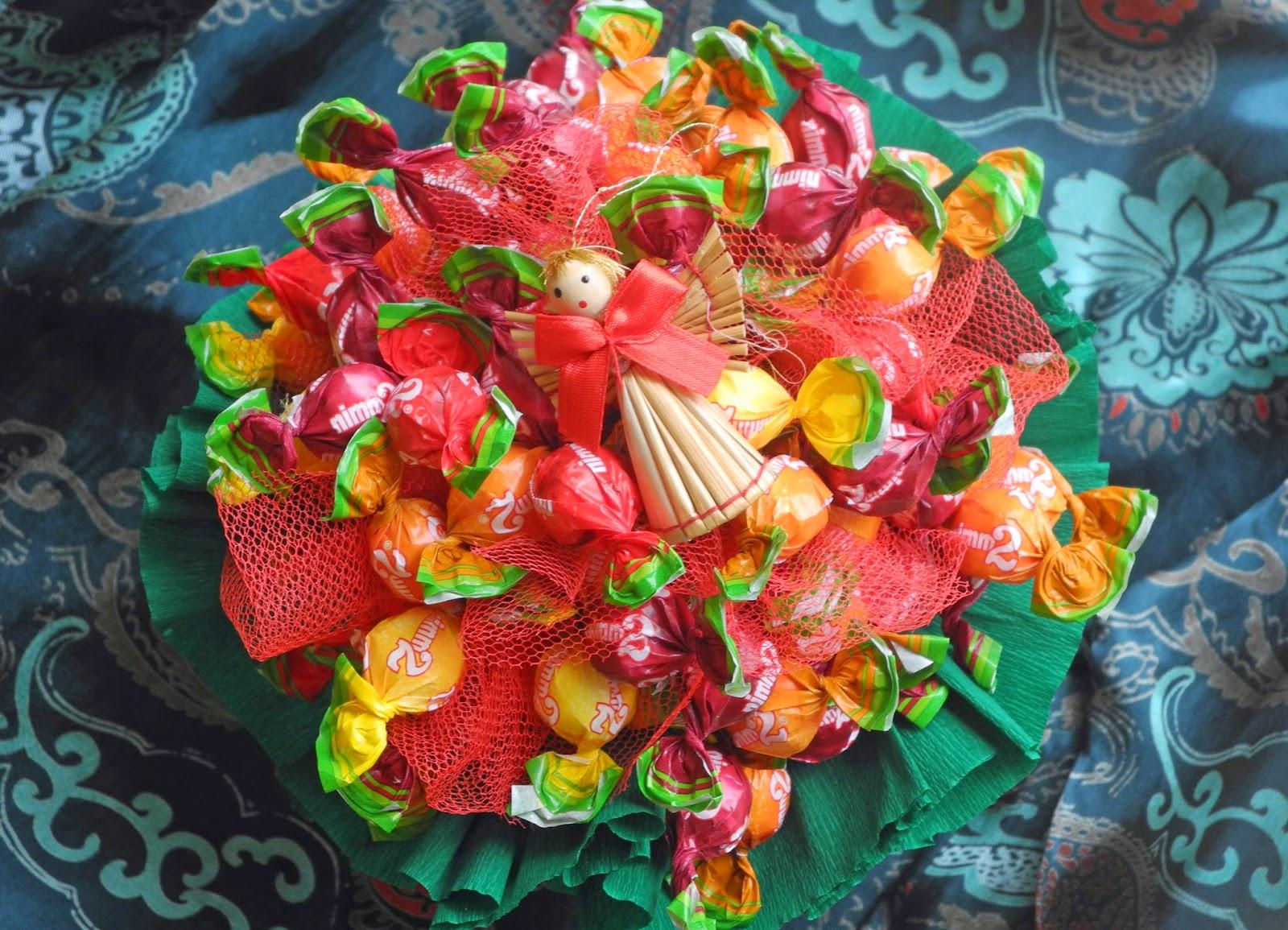 Süßigkeiten strauß selber machen