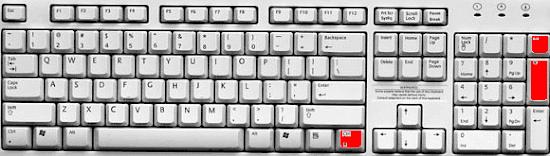 Уменьшить на клавиатуре размер текста
