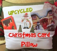 http://joysjotsshots.blogspot.com/2015/01/upcycled-shirt-christmas-card-pillow.html