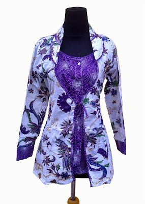 Model Baju Batik Kerja Guru Lengan Panjang Wanita