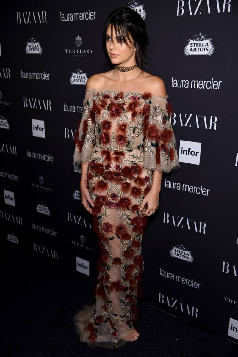 Images of Kendall Jenner in Glowing Dress At Harper's Bazaar Celebrates Icons By Carine Roitfeld In New York