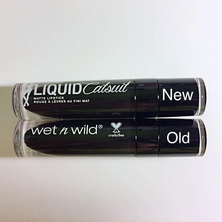 wet n wild megalast Liquid Catsuit Matte Lipstick So Noir Cool vs Widow's Peak