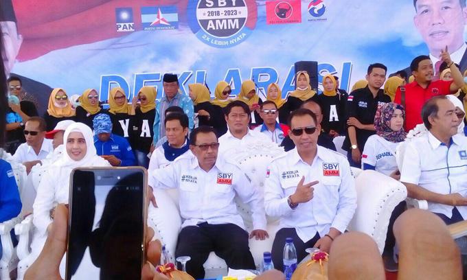 Ribuan Massa Tumpah Ruah di Acara Deklarasi SBY-AMM