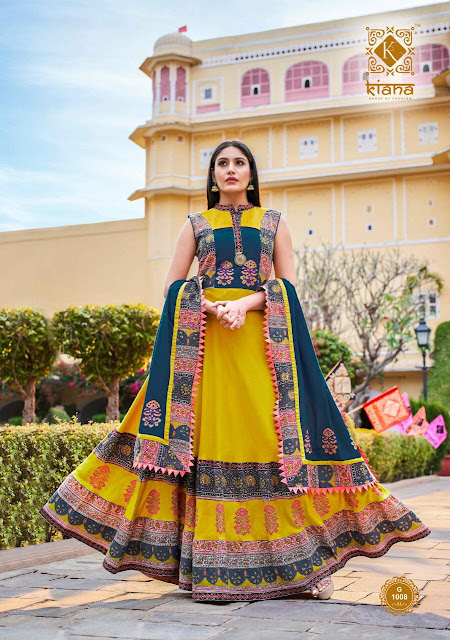 Kiana ghoomar Anarkali Ethnic Gown With Dupatta
