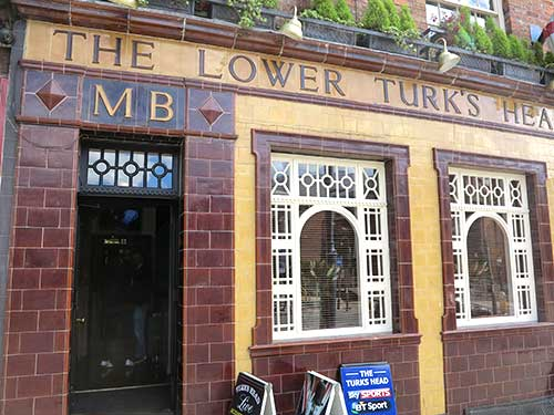 The Lower Turk's Head Pub, Manchester, UK.