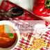 Zupa krem z papryki i soczewicy.