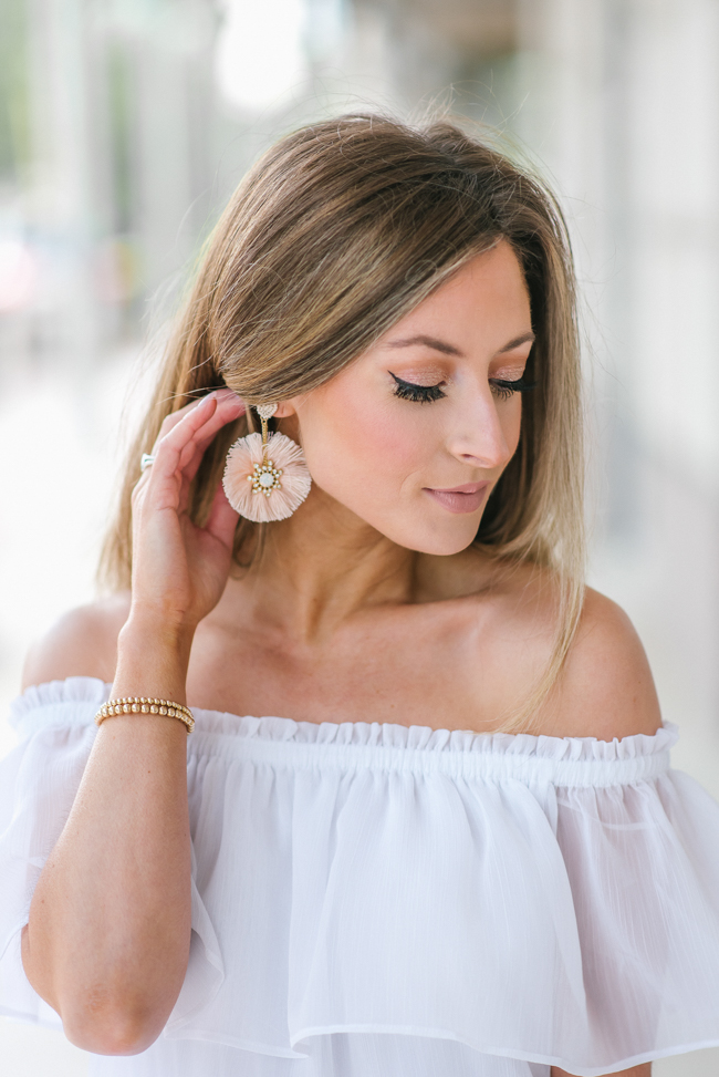 express circle tassel drop earrings