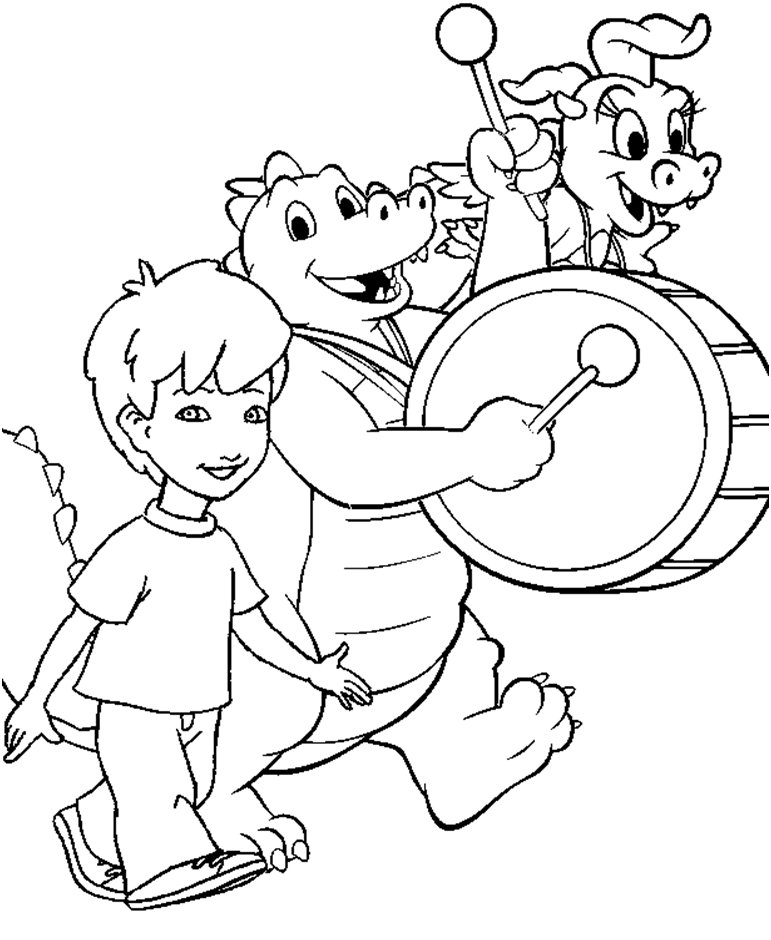 Coloring activity pages enrique ord cassie marching for Coloring pages of dragon tales