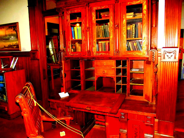 Howard Steamboat Museum - Carved Wooden Desk