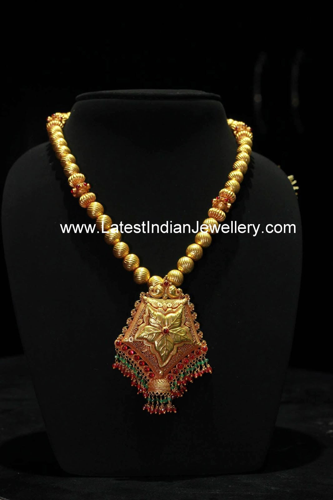 Temple Jewellery Style Gold Haram
