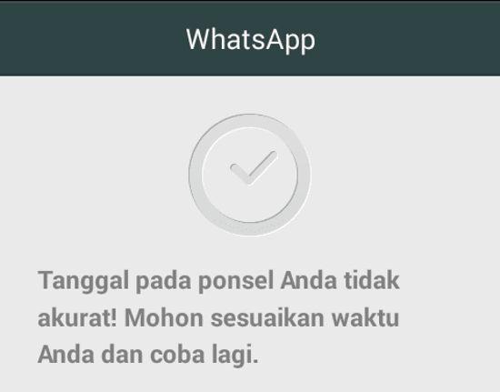 Cara Mengatasi Error Whatsapp Kadaluarsa Expired Tanggal