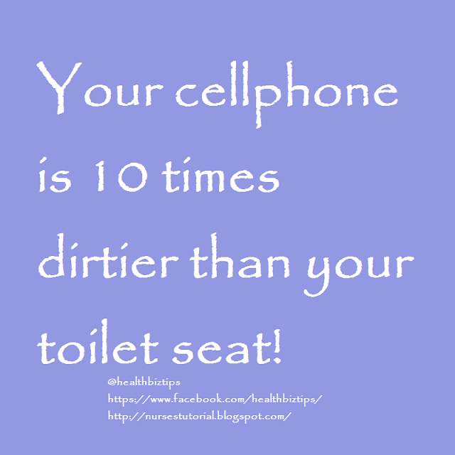 Your cellphone is 10 times dirtier than your toilet seat!