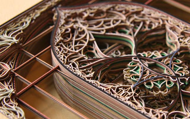 Green Pear Diaries, arte, Eric Standley, dibujo, escultura, papel cortado