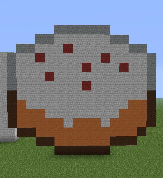 Minecraft Cake Pixel Art