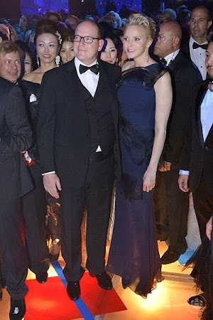 Princess Charlene and Prince Albert II at the Rose Ball in Monaco