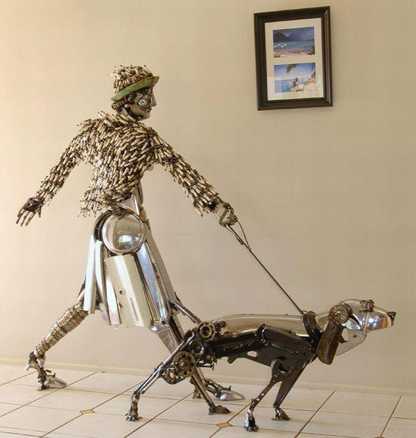 Escultura de perro