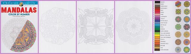 kleurboek. kleuren op nummer mandalas