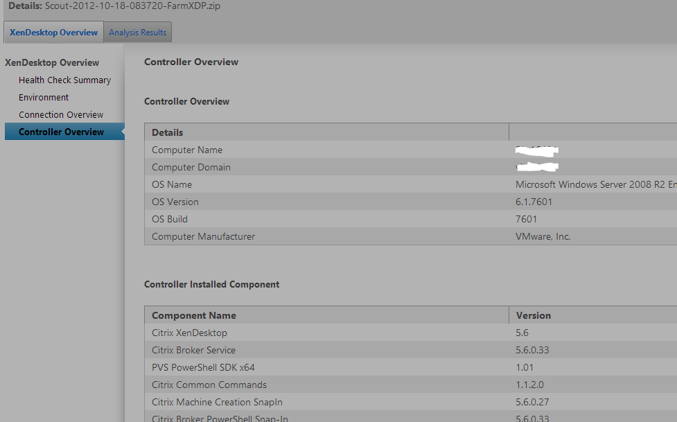 Citrix Auto Support & Scout, Citrix troubleshooting done